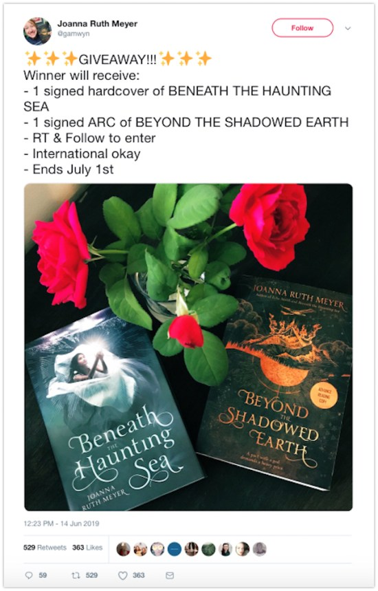 twitter book giveaway
