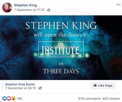 Ways Authors Use Facebook Pages to Promote Their Books Stephen King