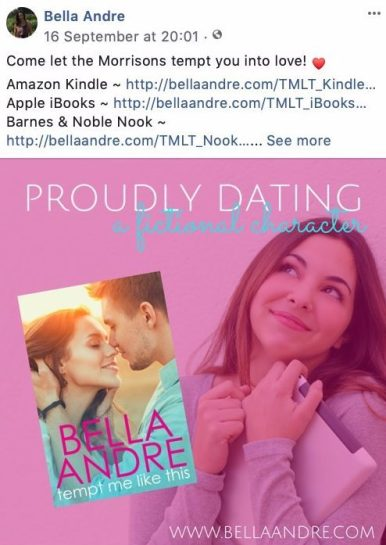 Ways Authors Use Facebook Pages Promote Their Books Bella Andre