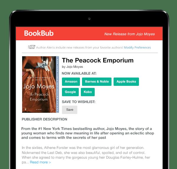 BookBub New Release Alert - Jojo Moyes