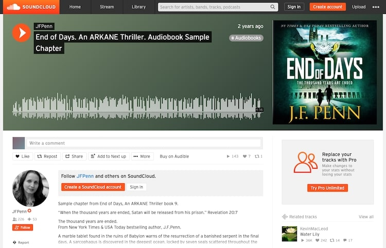 End of Days soundcloud audiobook promotion