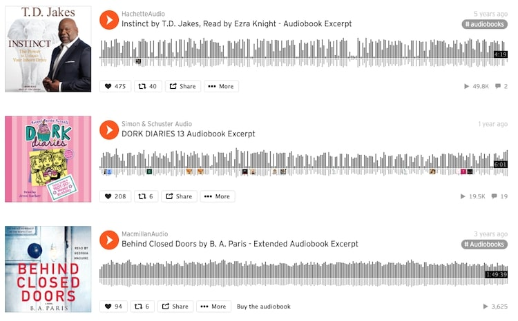 Soundcloud audiobook samples