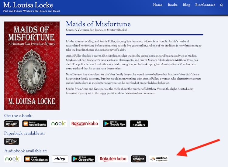 Maids of Misfortune M Louisa Locke promotion