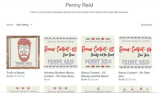 Penny Reid audiobook samples on Authors Direct