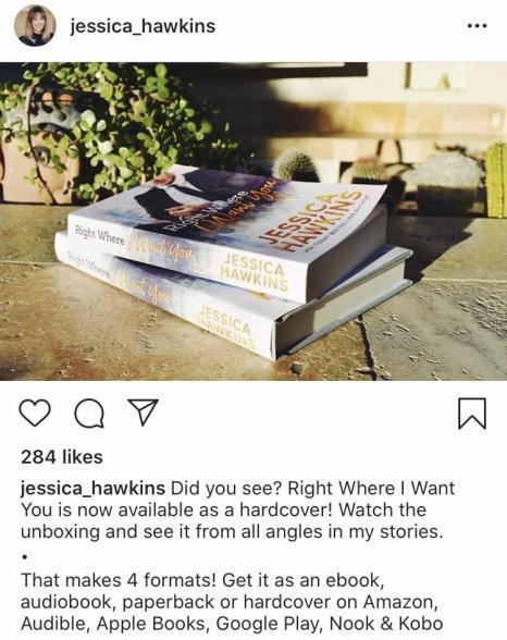 Bookstagram of Jessica Hawkins books