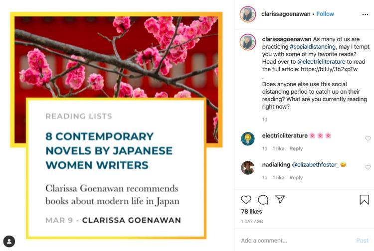 Clarissa Goenawan book recommendations