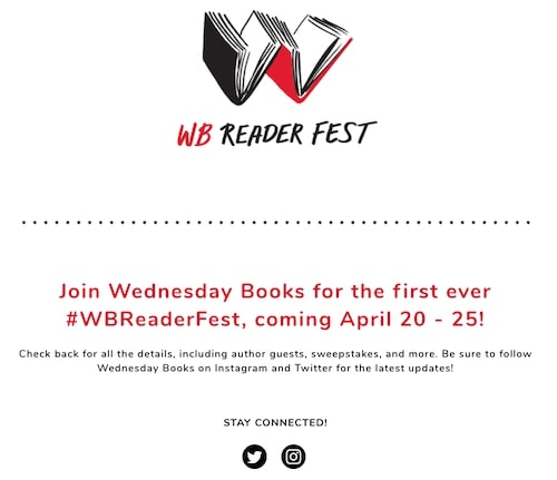 WB Reader Fest website