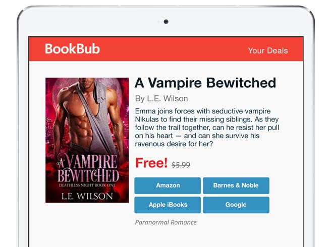 BookBub Featured Deal for a first-in-series book