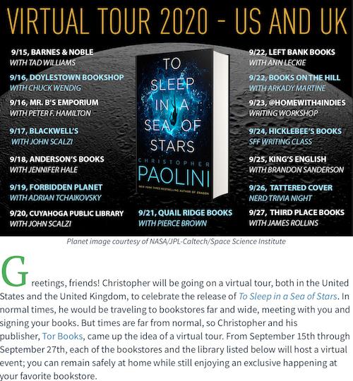 Virtual Book Tour at Independent Bookstores