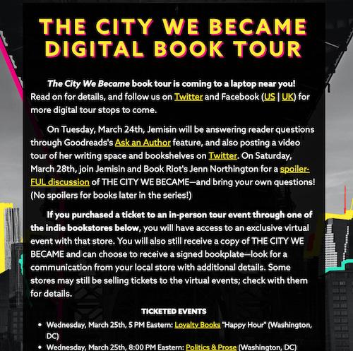 Virtual Book Tour Announcement