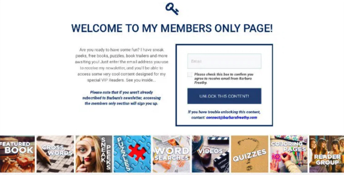 Author Members Only Page