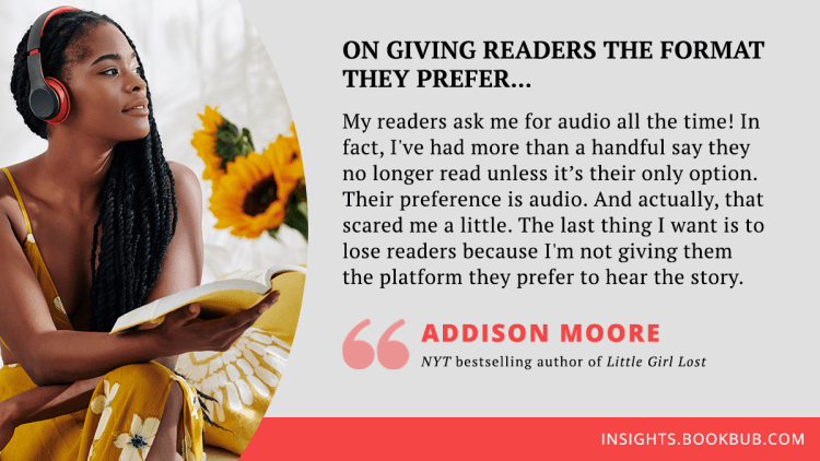 Audiobook publishing tip from Addison Moore