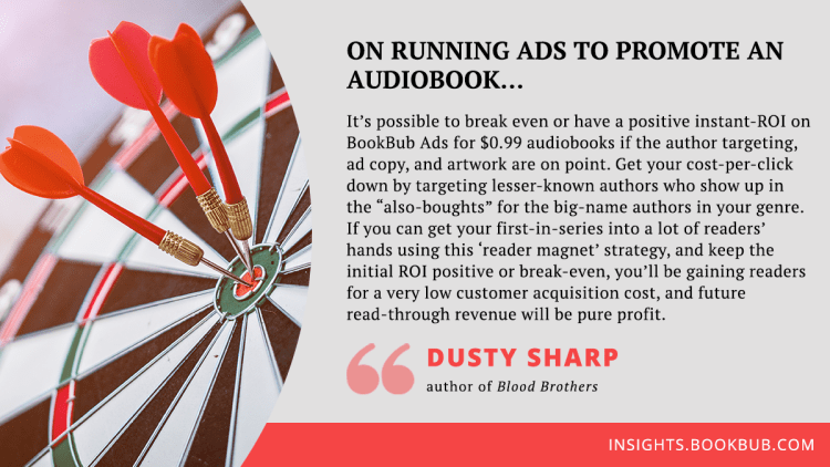 Audiobook marketing tip from Dusty Sharp