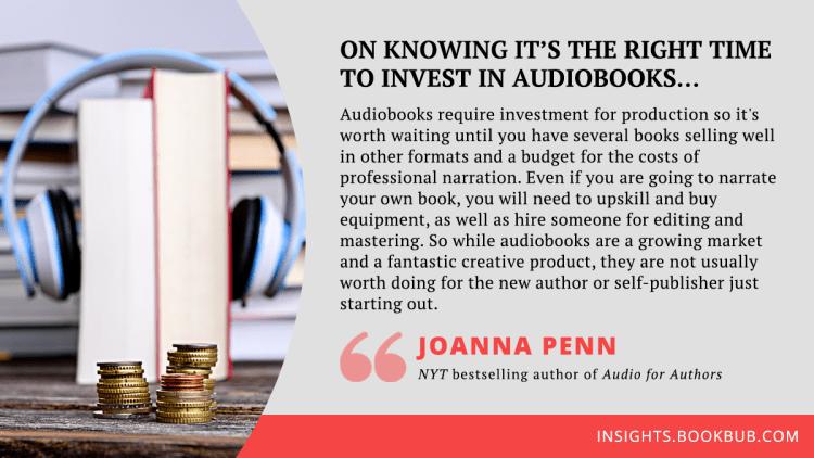 Audiobook publishing tip from Joanna Penn