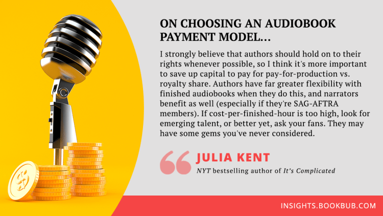 Audiobook publishing tip from Julia Kent