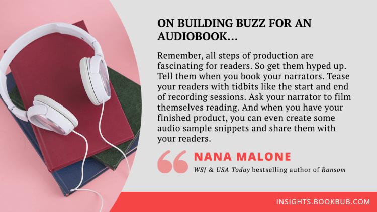Audiobook marketing tip from Nana Malone
