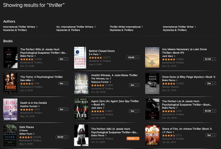 Apple Books Search Algorithm