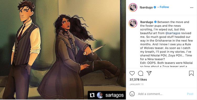 Author Sharing Fan Art