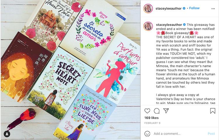 Instagram Book Giveaway