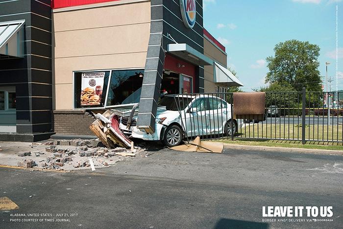 Imagen 001 Burger King servicio delivery accidentes