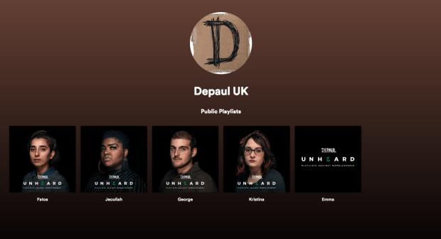 Imagen 001 playlists Spotify personas sin hogar