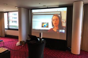 Photo of Laura on Screen at #BSFoL18 by Jon Fulton