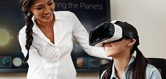 The International Society for Technology in Education (ISTE) conference in June 2015, reviewed the ways in which virtual reality (VR) headsets and wearable technology in education can facilitate student learning and support teachers.