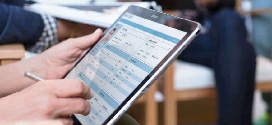 Tablet-based access to an EHR system improves patient outcomes.