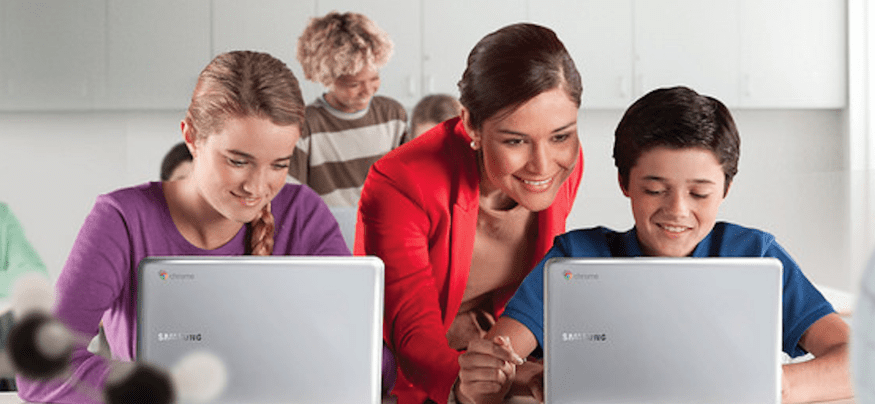 Technology in the classroom enhances student collaboration and makes teachers' jobs easier.