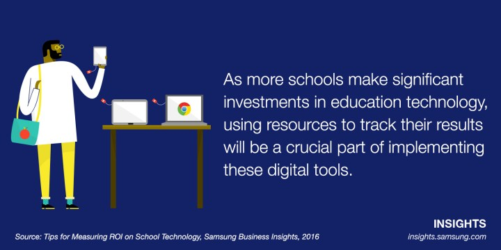 As more schools make significant investments in education technology, using resources to track their results will be a crucial part of implementing these digital tools.
