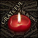 candle, words grateful and related terms