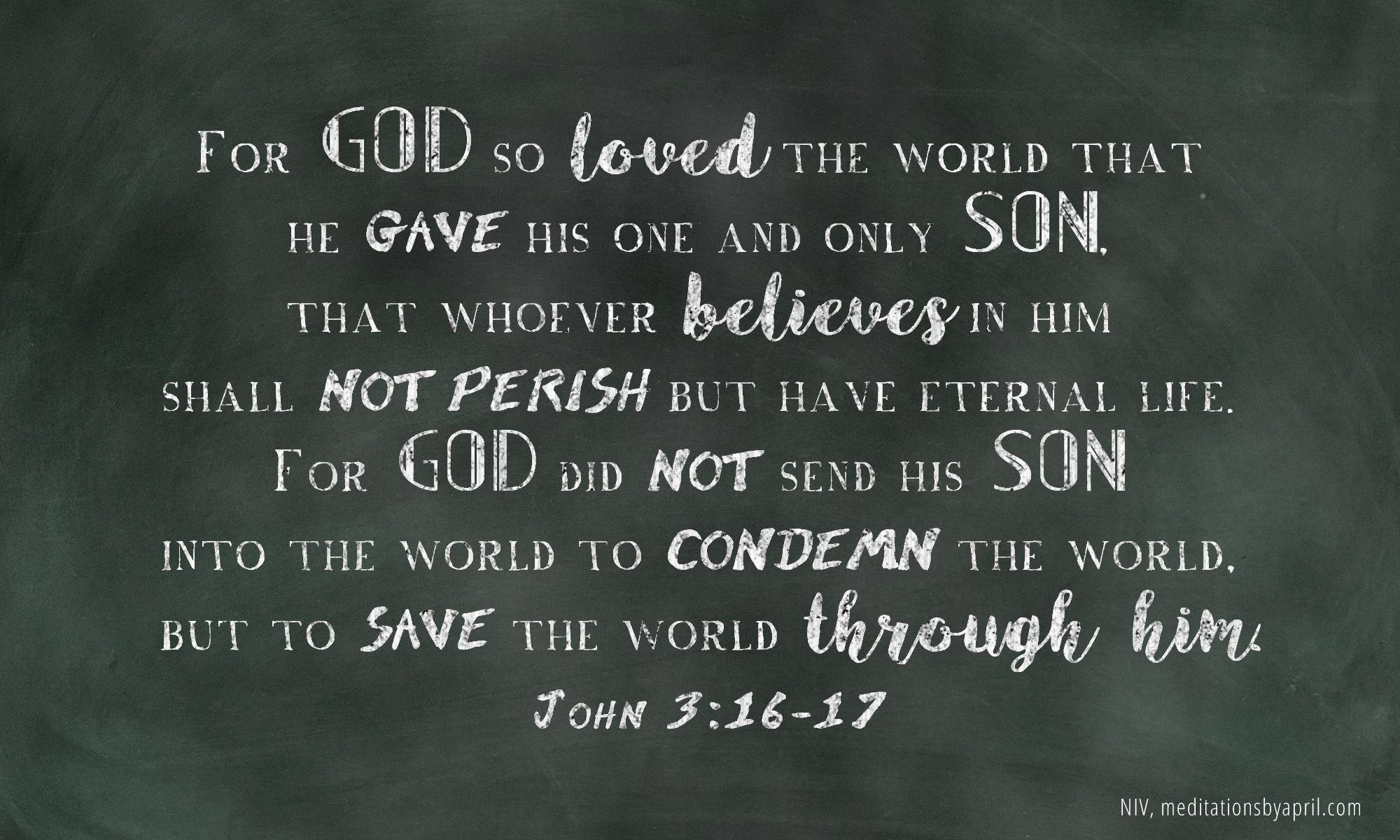 John 3 16 17 Memory Verse Insights From Tom