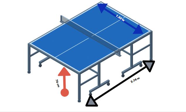 ping pong table dimension