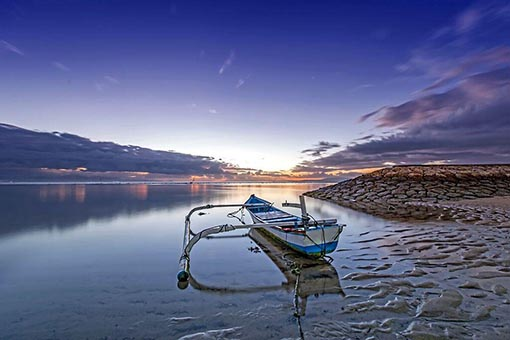 Sanur beach in Bali is simply stunning.