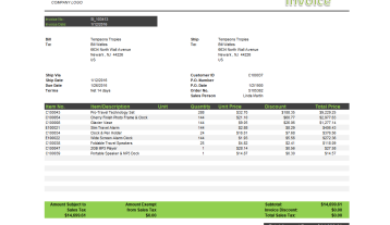 Nb072 Jet Reports Sample Sales Invoice