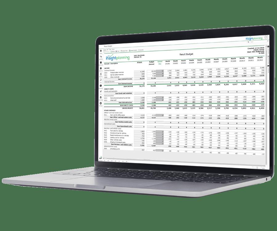 insightplanning Budgeting Forecasting Software
