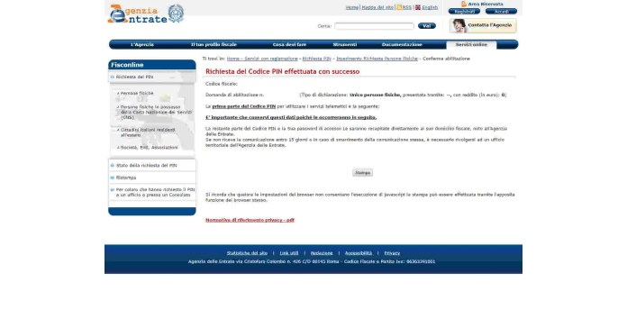 Credenziali dell'Agenzia delle Entrate