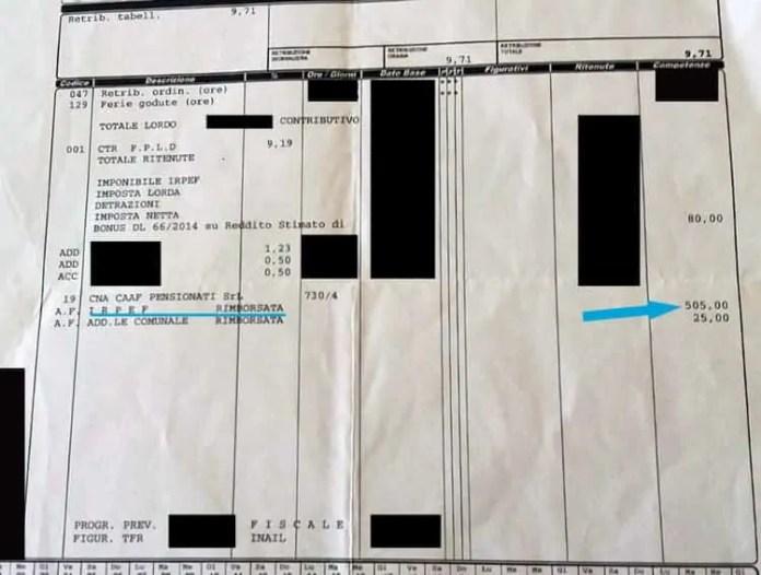 Come leggere il rimborso 730 sulla Busta Paga