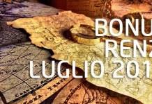 Pagamento Bonus Renzi Luglio 2018