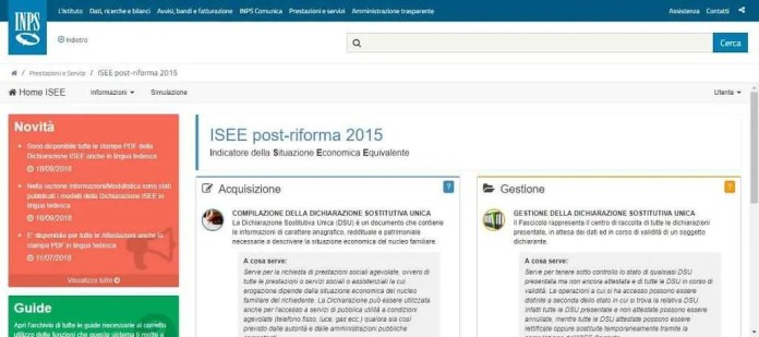 Isee Post riforma 2015