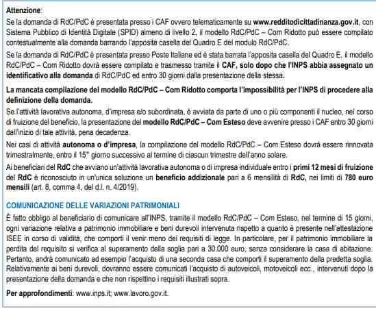Compilazione Rdc com