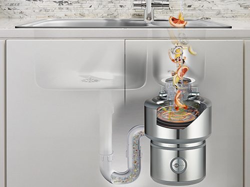 how a food waste disposer works