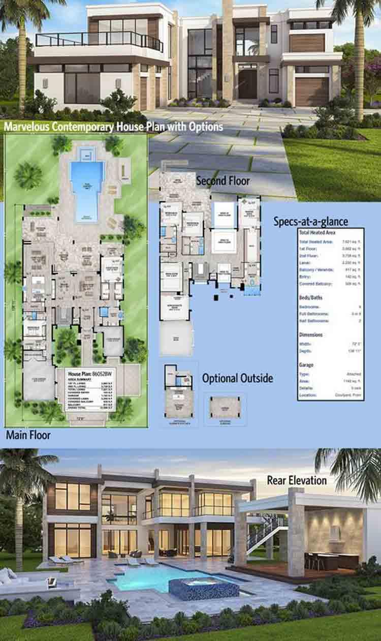 45 Model Rumah Mewah Minimalis 1 Dan 2 Lantai Desain Modern