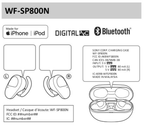 Plantão: Sony  WF-SP800N, fones esportivos sem fio