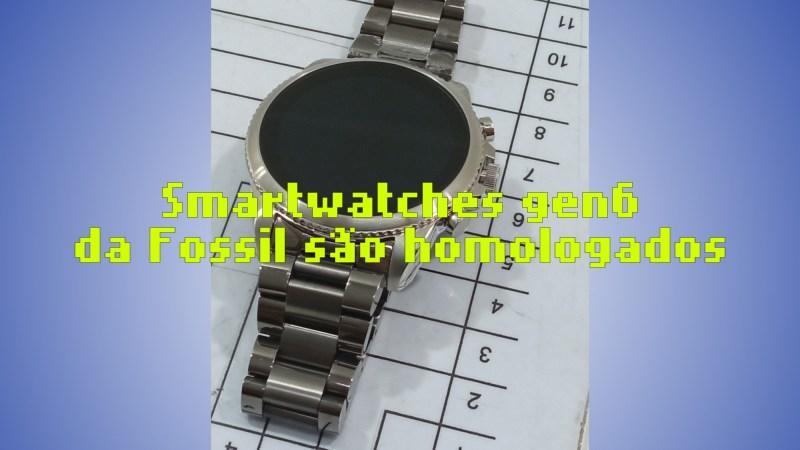 DW13F1, DW13F2 e DW13M1: smartwatches gen 6 da Fossil passam na Anatel (com fotos!)