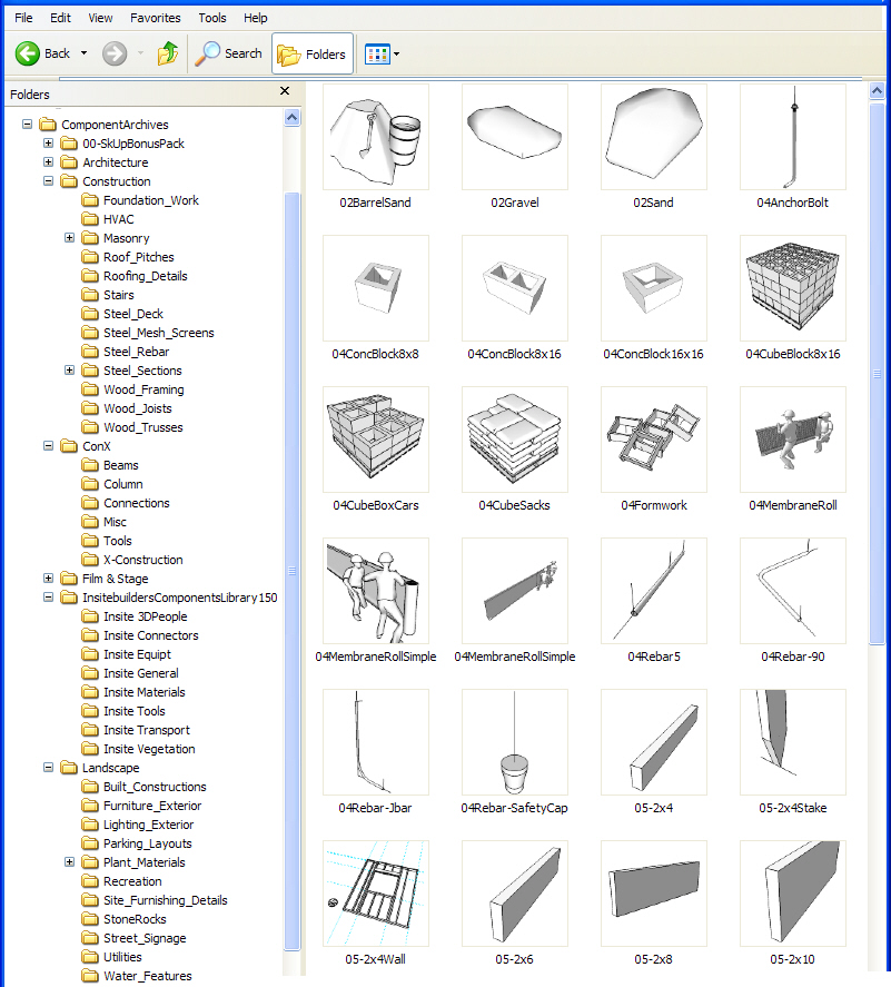 Insitebuilders - SketchUp Component Library