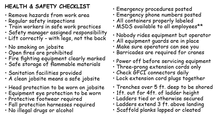 contractor safety plan template - part 6 preconstruction health and safety 3d