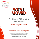 WE HAVE MOVED! 'Our Karachi office to the new location'