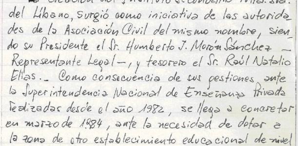 Historia Secundario