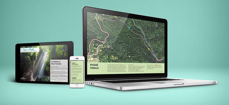 Carte numérique guide pdf Randonnée cascade du Trou a diable, Bouillante, insolite Guadeloupe voyage